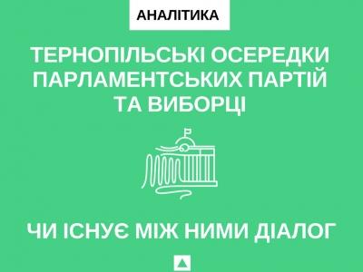 Тернопільські осередки парламентських партій та виборці: чи існує між ними діалог