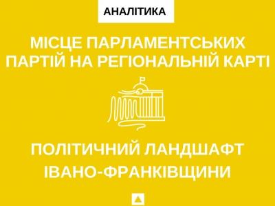 Місце парламентських партій на політичній карті Івано-Франківщини
