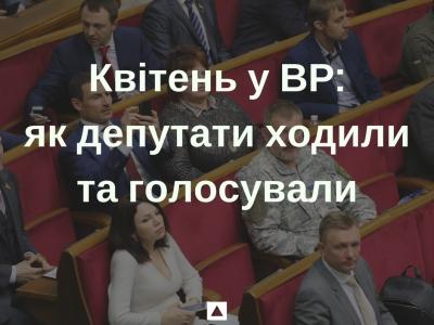 Квітень у ВР: як депутати ходили та голосували