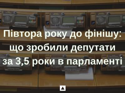 Півтора року до фінішу: що зробили депутати за 3,5 роки в парламенті