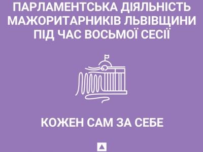 Парламентська діяльність мажоритарників Львівщини під час восьмої сесії: кожен сам за себе