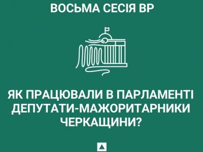 Як працювали в парламенті депутати-мажоритарники Черкащини впродовж восьмої сесії?