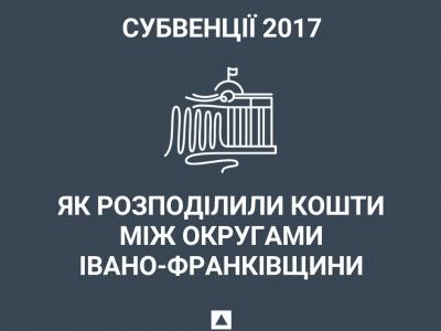 Субвенції 2017: як розподілили кошти між округами Івано-Франківщини