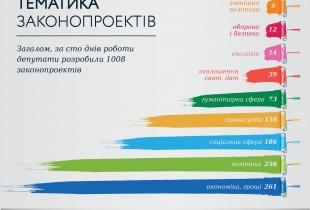 Тематика законопроектів, ініційованих протягом ста днів роботи парламенту